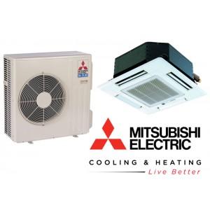 Mitsubishi- M Series Heat Pump Cassette - 8400 BTU - 15 SEER