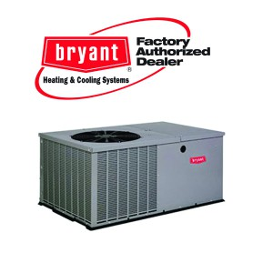 Bryant 2.5 Ton 14 SEER Horizontal Air Conditioner Package Unit - 7KW Heater