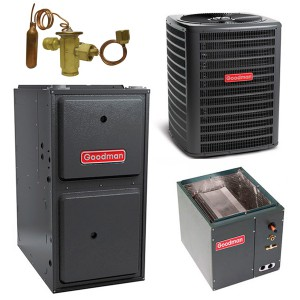 Goodman 2 Ton 14 Seer AC 40,000 btu 80% 2-Stage Gas Furnace