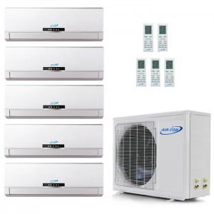 Air Con 18,000 BTU 16 SEER Ductless Dual Zone Heat Pump System 9+9